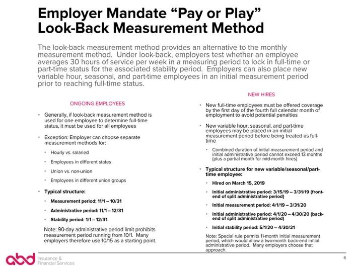 employer mandate, pay or play