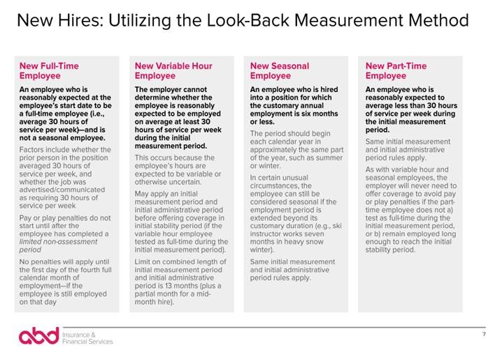 look back measurement method