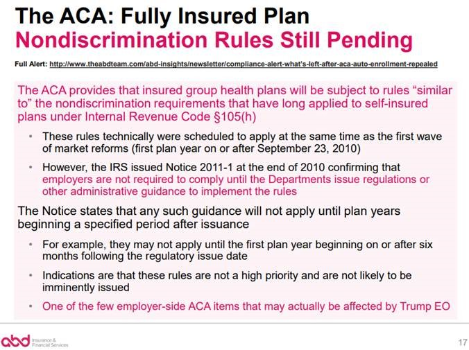ACA: Fully Insured Plan