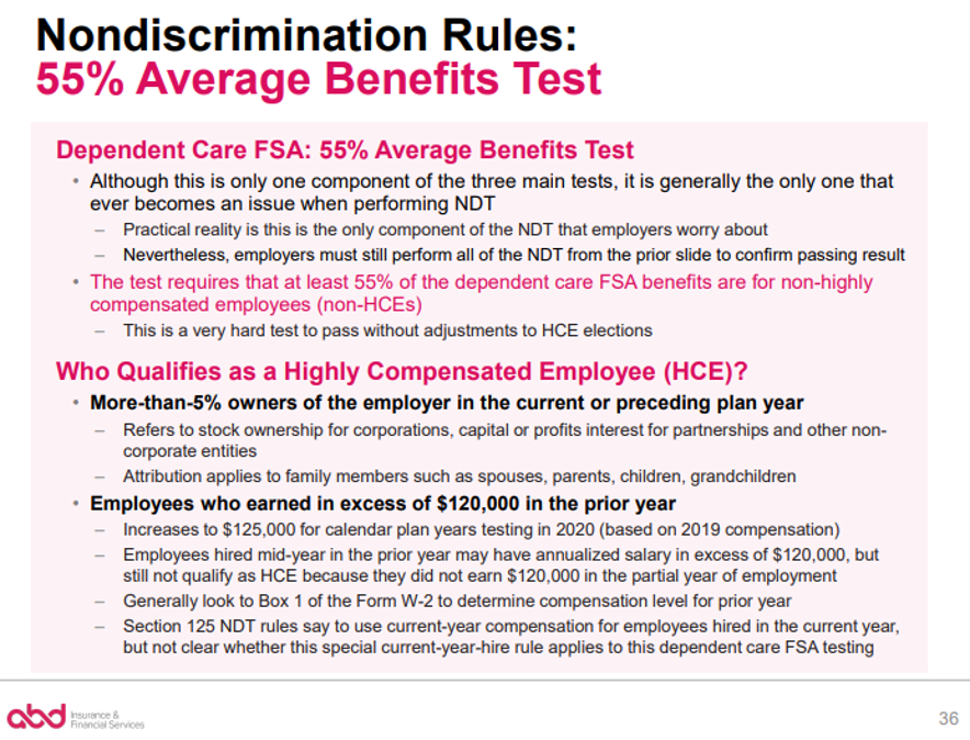 Nondiscrimination Rules: 55% Average Benefits Test pt. 1