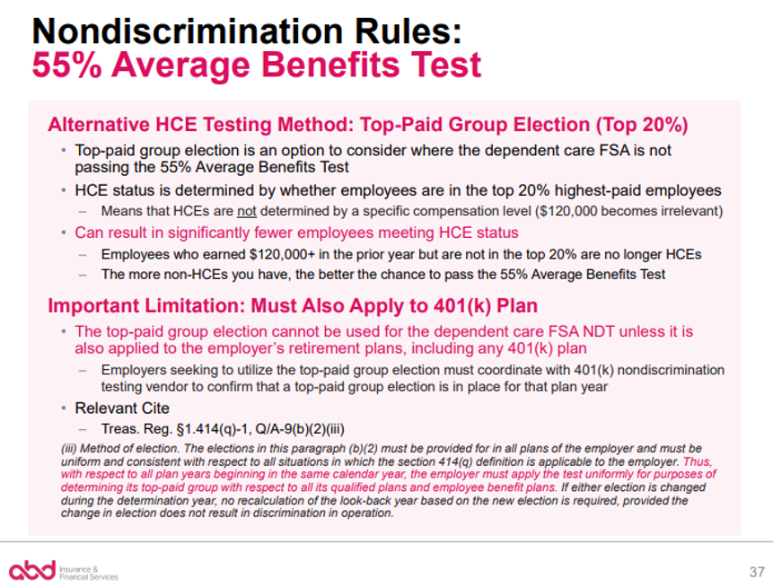 Nondiscrimination Rules: 55% Average Benefits Test pt. 2