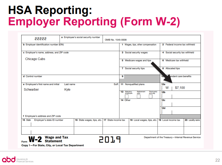 W2 Form - HSA Reporting