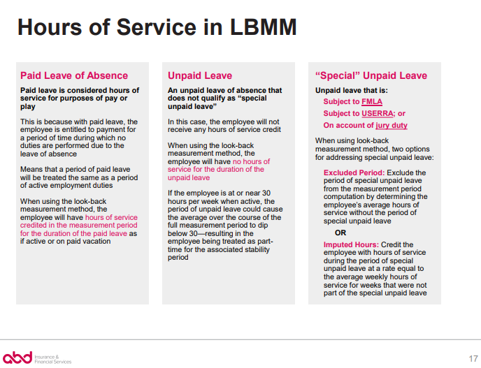 Hours of Service in LBMM