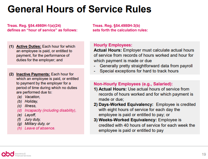 General Hours of Service Rules