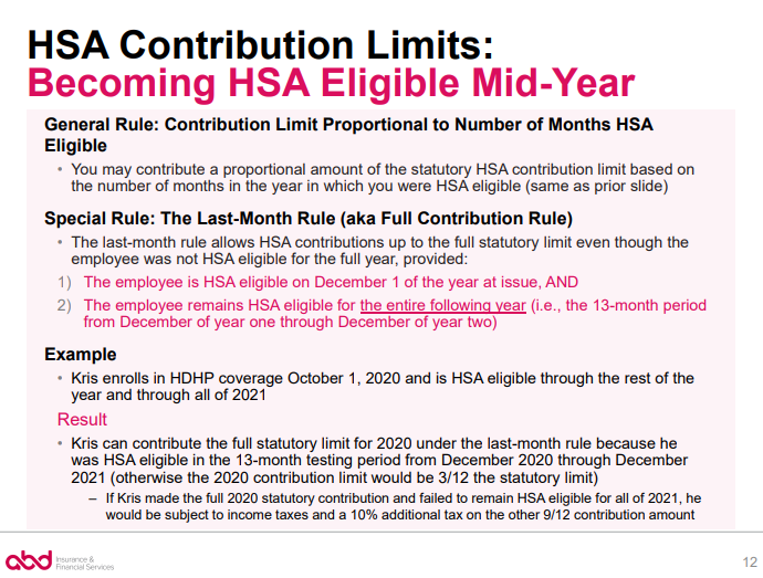 becoming HSA eligible mid-year